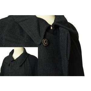 紳士とんびマント 黒色綿生地 着物、作務衣用 和洋兼用 カジュアルメンズアウター ichi529 02