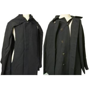 紳士とんびマント 黒色綿生地 着物、作務衣用 和洋兼用 カジュアルメンズアウター ichi529 03