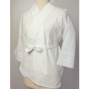 和装下着 さらし半襦袢バチ衿仕立て LLサイズ 襦袢を着てい...