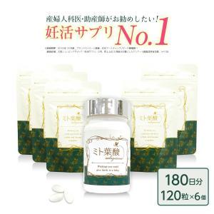 ミト葉酸 6個セット(ボトルケース入り1+詰替用5)|ichibanboshi