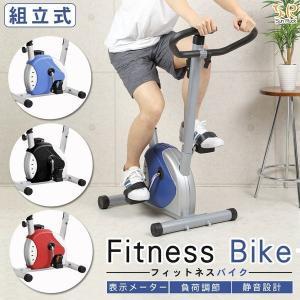 フィットネスバイク エアロバイク ダイエット 運動器具 太もも 有酸素運動 フィットネスマシン SunRuck サンルック SR-FB801-BLの画像