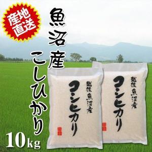 米 2018年産 30年産 魚沼産 コシヒカリ 10kg (5kg×2個) とれたての美味しさ ご贈答にも最適 同梱不可 代引不可|ichibankanshop