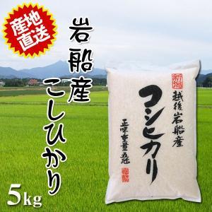 ふるさと名物商品 平成29年度産米 とれたての美味しさ ご贈答にも最適 岩船産コシヒカリ 5kg 代引不可 同梱不可|ichibankanshop