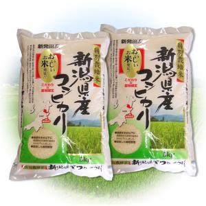 ふるさと名物商品 H29年産米 米 贈答に好評! 特別栽培米 新潟県産コシヒカリ 10kg(5kg×2個) 代引不可 同梱不可|ichibankanshop