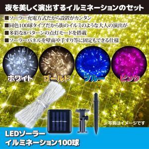 夜を美しく演出するイルミネーションのセット ●ソーラー充電方式だから設置がカンタン ●同色100球タ...