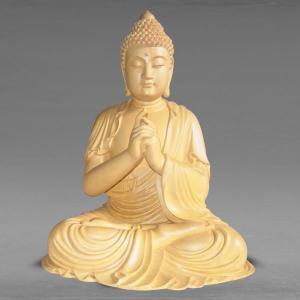 分割払い可 仏像 毘盧遮那仏(大日如来) 高さ46cm 職人による手作りの精巧な木像 工芸美術品 代引不可 同梱不可 ichibankanshop