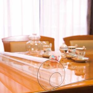 日本製 透明テーブルマット(1mm厚) 約750×1200長 TC1-127(同梱・代引き不可)|ichibankanshop