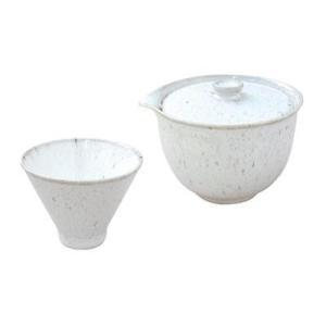 お茶セット 白釉窯変7127-0570(同梱・代引き不可) ichibankanshop