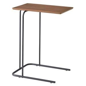 アーロン サイドテーブル スチール脚を使用したサイドテーブルEND-222BRW35xD47xH60 代引不可 同梱不可|ichibankanshop