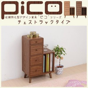 送料無料 Pico series Chest rack JKプラン FAP-0009-BRブラウン 代引不可 同梱不可 ichibankanshop