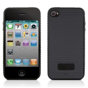 /メール便 ケース ウェーブデザイン iPhone 4用ケース Phone Wave 4 PH10031 ブラック PH10031-BK CUT&PASTE 代引不可|ichibankanshop