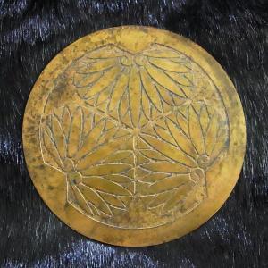 甲冑師による企画作成 古式仕上げ 前立て 徳川家康 丸に三つ葵 銅製 甲冑 兜 鎧兜|ichibankanshop