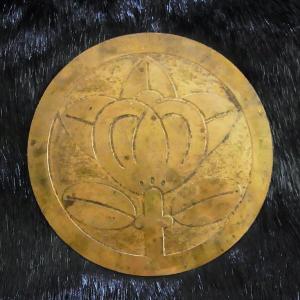 兜 前立て 井伊直政 家紋 戦国武将 古式仕上げ 橘 銅製|ichibankanshop