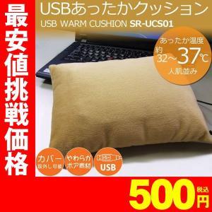 ホットクッション USB温熱クッション SunRuck(サンルック) USBあったかクッション アイボリー 腰当て用 腕用 PC用 カイロとして SR-UCS01|ichibankanshop