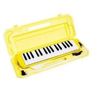 カラフル32鍵盤ハーモニカ MELODY PIANO P3001-32K イエロー(同梱・代引不可)|ichibankanshop