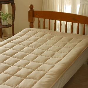 中綿に高品質キャメルを100%使用した、しっとりやさしい肌触りでふんわり柔らかな寝心地のキャメルの敷...
