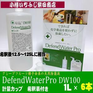 DF3 6本 DefendWaterPro DW100 ディフェンドウォーター 家庭向き1L (希釈後12.5L〜125L分) 200mlのスプレーボトル 約60本分 除菌 アルコール 次亜塩素酸 ichifuji-shibata