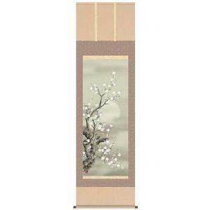 掛軸 掛け軸   花鳥画 朧月白梅 宇崎洋山 尺五 A2-063 ichifuji-store
