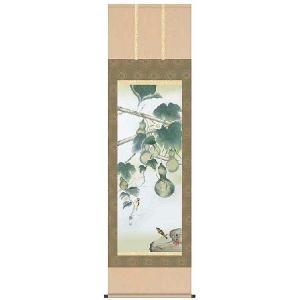掛軸 掛け軸 花鳥画   六瓢 唐沢碧山 尺五 A3-057 ichifuji-store