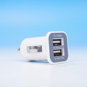 iPhone iPad iPod を車で充電できる、車載USB充電アダプタ シガーソケット。 2ポー...