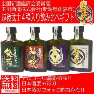 日本酒の日 日本酒 飲み比べ 越後武士 4本セット 180ml ポケット瓶|ichigou-sake