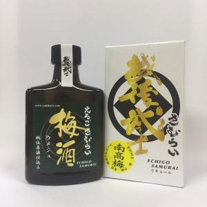 越後武士 梅酒 180ml ポケット瓶|ichigou-sake