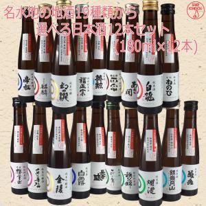 日本酒 飲み比べ 名水地19種から選べる12本セット 180ml|ichigou-sake