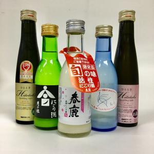 日本酒 スパークリング 飲み比べ 5本セットB 180ml|ichigou-sake