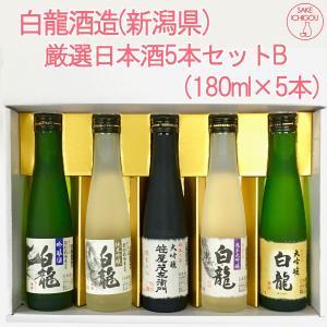 日本酒 飲み比べ 白龍酒造5本セットB(特選大吟醸入り)|ichigou-sake