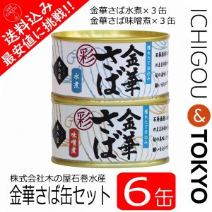 金華さば さば缶 サバ缶 鯖缶 水煮 味噌煮 170g  6個セット|ichigou-sake