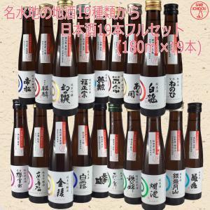 日本酒 飲み比べ 名水地19種フルセット 自宅用 180ml|ichigou-sake