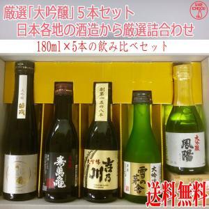 日本酒 飲み比べ 厳選「大吟醸」5本セット|ichigou-sake