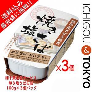 送料込 最安値 焼き塩さば 100g 3個セット 缶詰|ichigou-sake