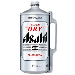 ビール アサヒ スーパードライ ミニ樽 アルミ 2000ml 2L【6個まで1個口で配送可能】|ichiishop