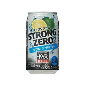 【サントリー】−196℃ ストロングゼロ〈ダブルシークヮーサー〉 350ml×24缶 1ケース|ichiishop