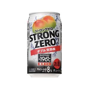 【サントリー】−196℃ ストロングゼロ〈ダブル完熟梅〉 350ml×24缶 1ケース ichiishop