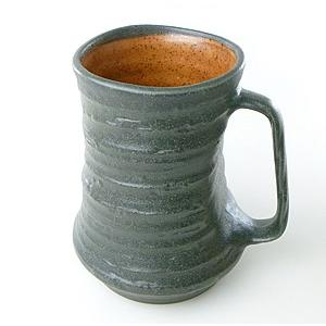 【陶友】黒備前 ジョッキ 焼酎・ビールにぴったりの陶製カップ|ichiishop