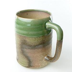 【陶友】伊賀 ジョッキ 若草 焼酎・ビールにぴったりの陶製カップ|ichiishop