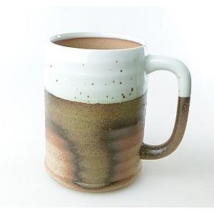 【陶友】伊賀 ジョッキ 白 焼酎・ビールにぴったりの陶製カップ|ichiishop