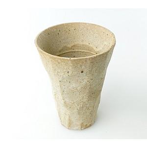 【陶友】黄信楽 一口ビールカップ 焼酎・ビールにぴったりの陶製カップ|ichiishop