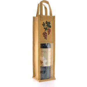 ファンヴィーノ 不織布ワインバッグ窓付 1本用 ワインバッグ 1本用|ichiishop