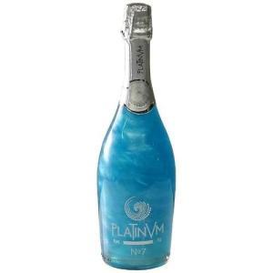 ブルー ラメ入りスパークリングワイン プラチナム フレグランス パイナップル&ココナッツ No.7 750ml スペイン|ichiishop
