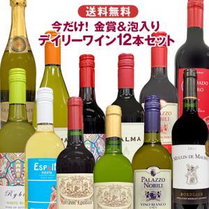 金賞ワイン入り デイリーワインセット 赤白ワイン12本 送料無料 詰め合わせ 飲み比べ 世界各国 夢の競宴 新元号|ichiishop