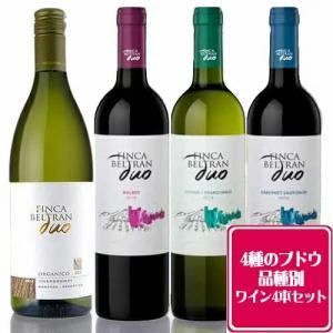 オーガニックワイン フィンカ 4本セット 4種の品種 クール代・送料無料 自然派ワイン