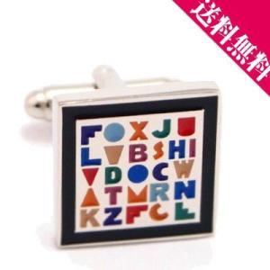 送料無料 26アルファベット カフスボタン|ichikawa929