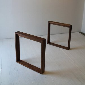 ロ型木製無垢2本脚|ichimaiita-com