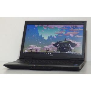 中古ノートパソコン A4サイズ Windows10 NEC VersaPro VA-H Core i3 2.4GHz 15.6インチワイド 160GB DVDマルチ 無線LAN BlueTooth搭載 即使用可|ichioshiyasan