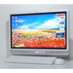 お洒落な一体型 富士通 富士通 F/G50T 20インチワイド液晶 Dual-Core 1.9GHz 500GB 地デジ DVDマルチ 無線LAN Office  即使用可|ichioshiyasan