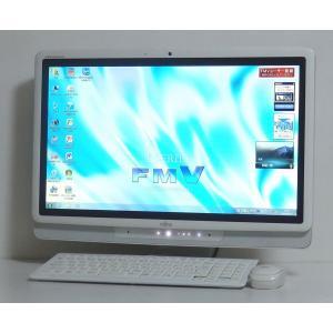 お洒落な一体型 富士通 F/G50T(FMVFG50TW) 20インチワイド液晶 Intel Cel...