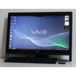 お洒落な一体型 SONY VAIO VPCL129FJ 24インチワイド液晶 Intel Core2...